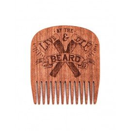 Peigne à barbe en Bois Live and Die by the Beard - Big Red