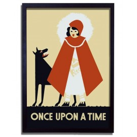 Affiche Rétro Chaperon Rouge - Once Upon a Time - WPA