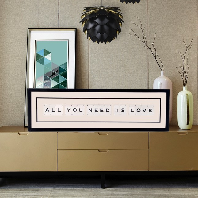 Cadre Déco Vintage All You Need Is Love