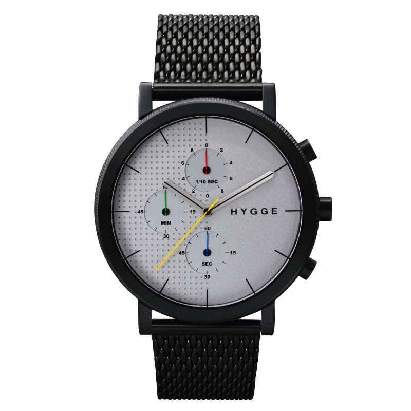 Montre Chronograph Blanc Maille Hygge 2204
