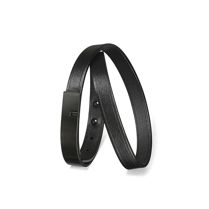Bracelet Homme U-Turn Twice Full Black